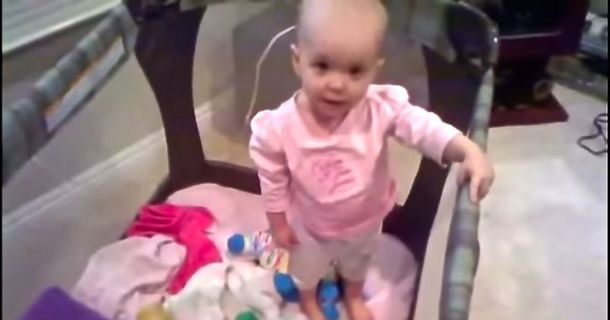 She'll Never Do Time: Watch This Baby Talk Her Way Out Of A Nap